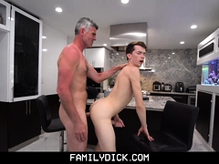 Hot Stepdad Fucks His Boy After A Wrestling Lesson