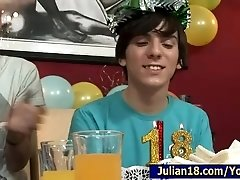 18 BirthDay Party... gay,boys,twinks,DP,double,penetration,group,teen,young,threesome,fingering,double,penetrations,DP,yo,Anal,Blowjob,Gay,Teen,Kissing,Roberto Malone