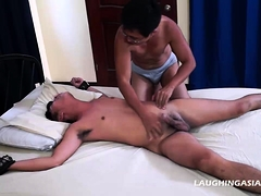 Asian Twink Coco Bound and Tickled
