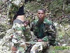 Uniformed twinks... Black (Gay);Twink (Gay);Blowjob (Gay);Latino (Gay);Military (Gay);Outdoor (Gay);Couple (Gay)
