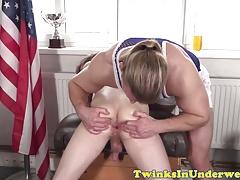 Massaged twink... Gay Porn (Gay);Handjobs (Gay);Massage (Gay);Twinks in Shorts (Gay);HD Gays;Fingered