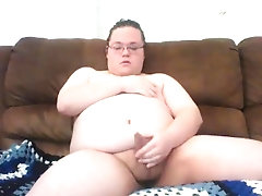 fat chuuby boy jerking his little cock and moaning