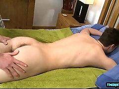 Tattoo twink rimjob and massage