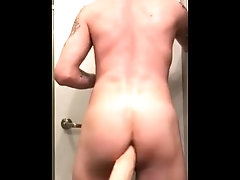 tattooed guy gets... dildo;riding-dildo;ass,Twink;Solo Male;Gay;Hunks;Amateur;Tattooed Men