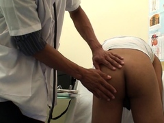 Twink Asian bareback fucked by doctor