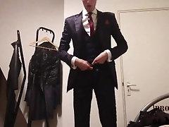 Preview - Suited... dress;shoes;fetish;jerk-off;suit;uniform;tie;slave;boi;cum;lick;shiny;fag;office,Fetish;Solo Male;Gay;Reality;Handjob;Uncut;Cumshot;Compilation;Verified Amateurs